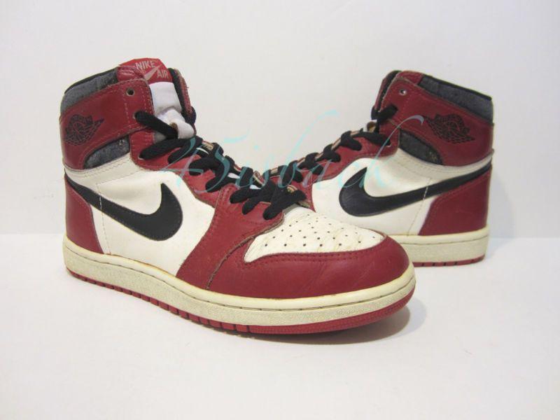 9289f4cb312 Details about ShoeZeum 1985 Vintage Original OG Nike Air Jordan 1 I ...