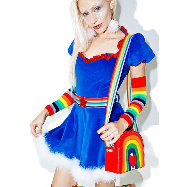Sexy rainbow brite halloween costume