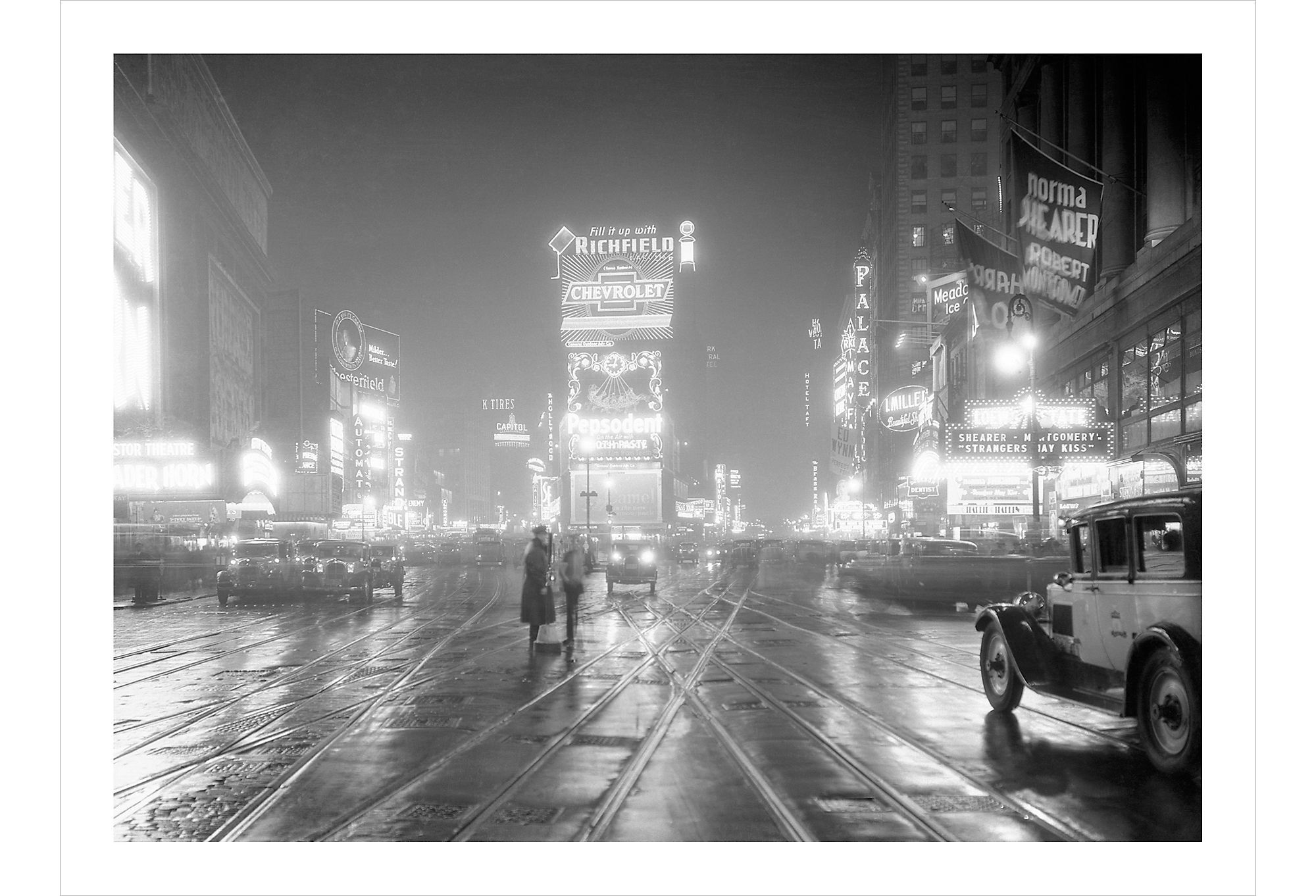 Times Square, New York in 1931 by Philip Gendreau
