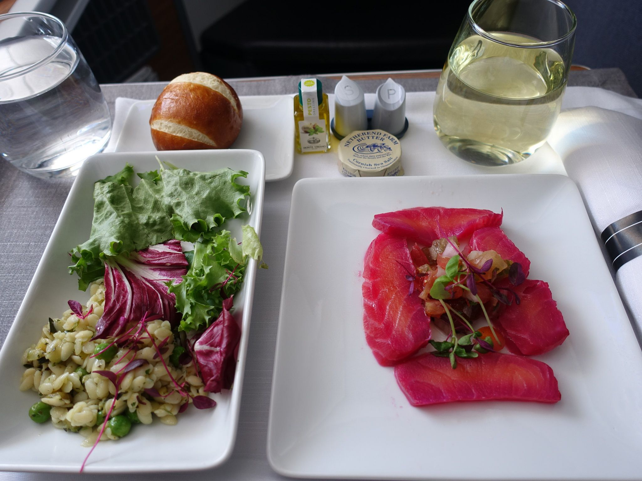 201808067 Aa105 Lhr Jfk Lunch Airline Food Lunch Orzo Salad