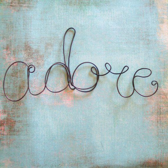 Adore Wire Word Embellishment | Word Art | Pinterest | Draht, Metall ...
