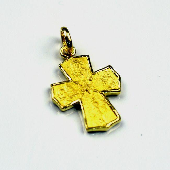 24k genuine gold cross pendant estherleejewel pinterest 24k genuine gold cross pendant aloadofball Images