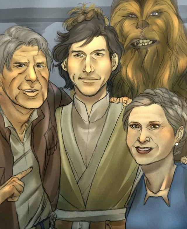 If Ben Solo came back home  #KyloRen #HanSolo #Chewbacca #GeneralLeia #BenSolo