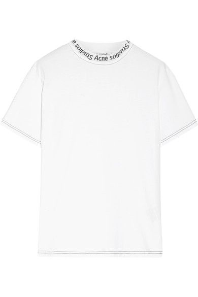ACNE STUDIOS ACNE STUDIOS - MEIKE INTARSIA COTTON T-SHIRT - WHITE.   acnestudios  cloth   50dbe342214