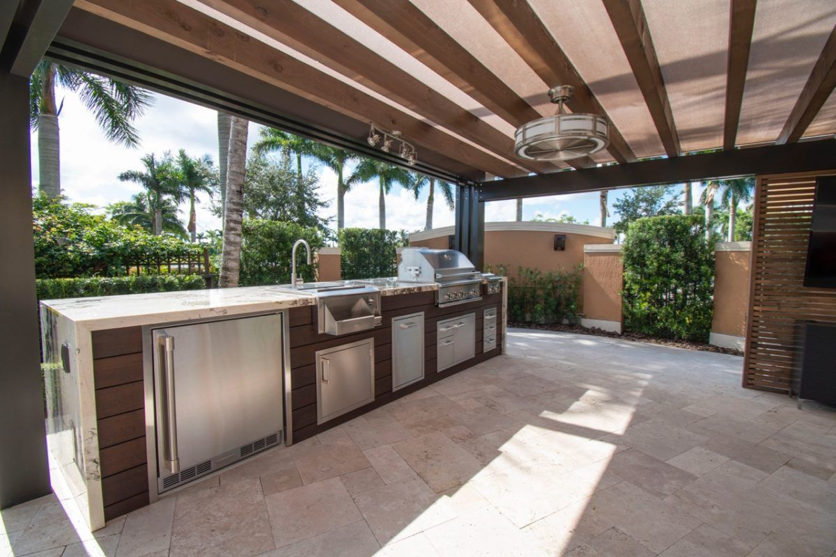 Custom Outdoor Living Space In Southwest Miami Luxapatio Patio Remodel Outdoor Kitchen Outdoor Living Space