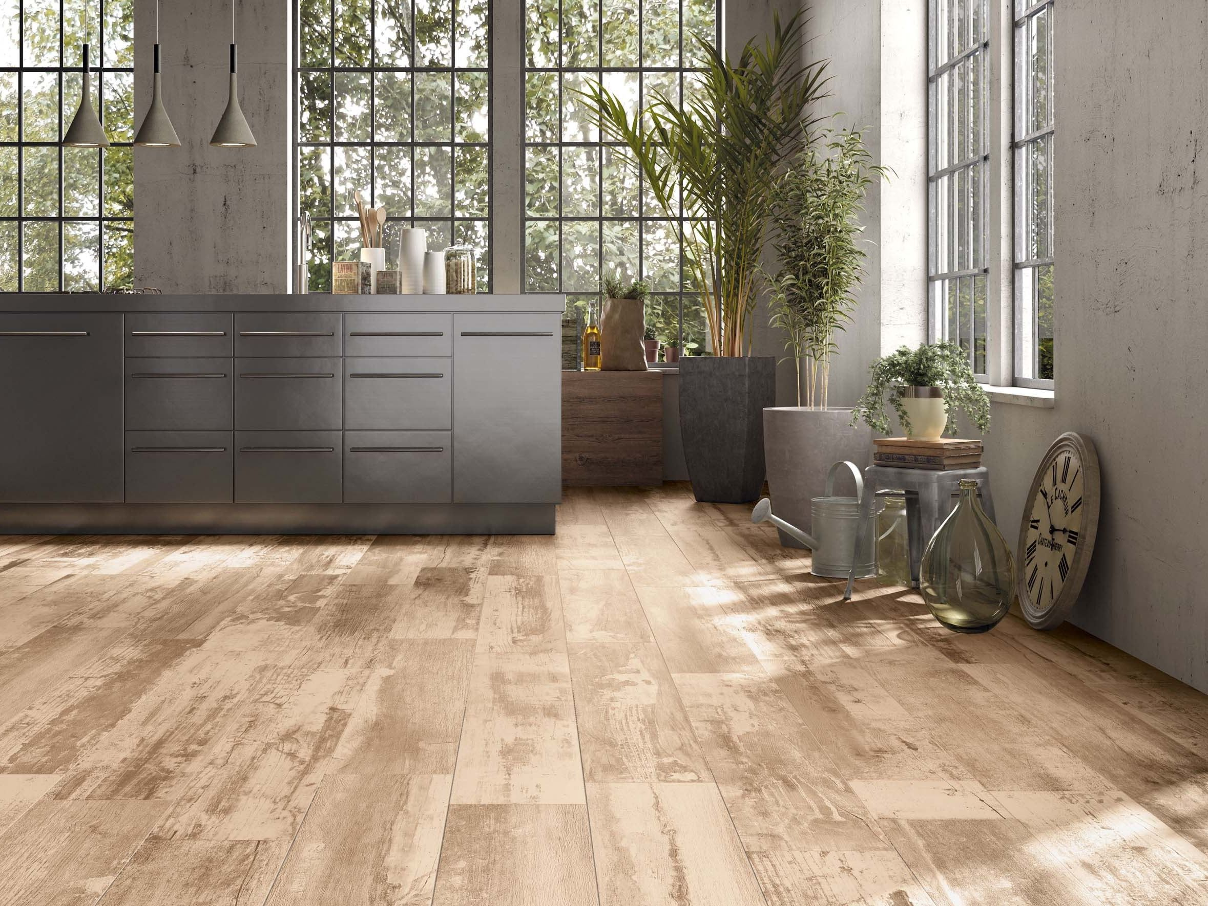 Porcelain stoneware wall floor tiles with wood effect REMAKE by