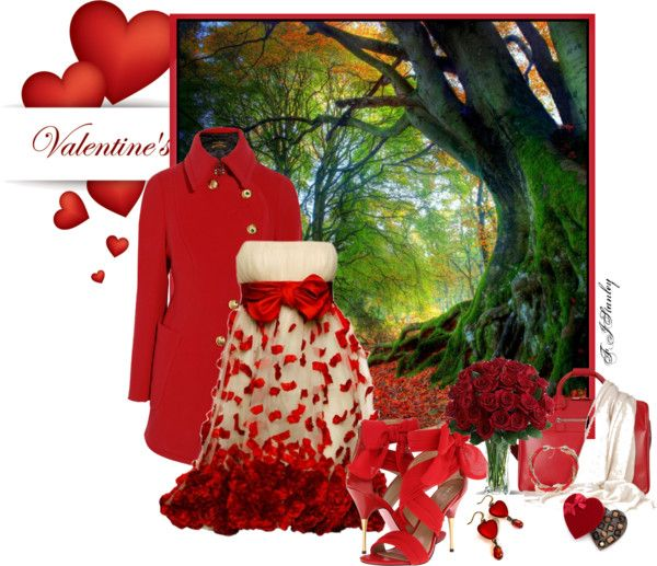 """""""Valentine"""" by fiona-stanley ❤ liked on Polyvore"""