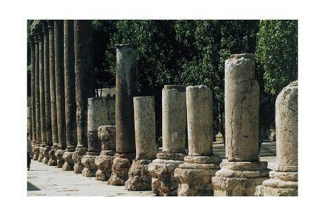 Colonnade in Forum of Amman, Jordan AD Giclee Print by | Art.com