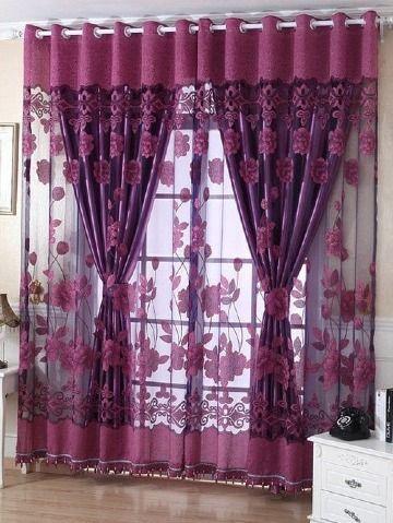 Diseños de cortinas decorativas para sala modernas 3 tonos ...