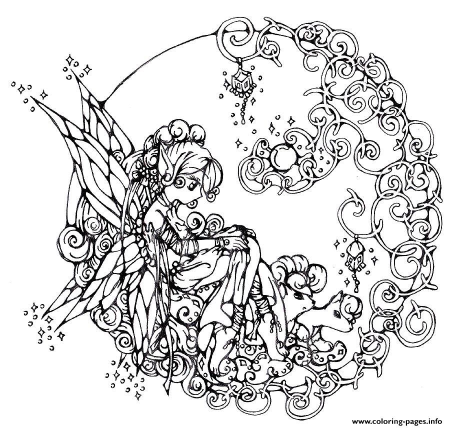 Difficult Flower Fairie Coloring Pages Fairy Coloring Pages Fairy Coloring Free Coloring Pages