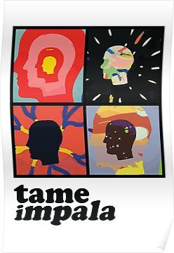 Tame Impala Heads Posters Tame Impala Music Poster Poster Art