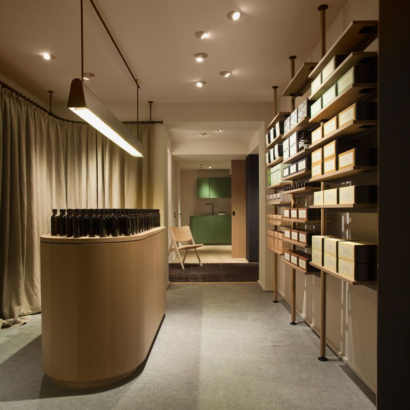 Vincent Van Duysen And Pslab Open Aesop Store In Hamburg Retail Interior Design Retail Lighting Retail Lighting Design