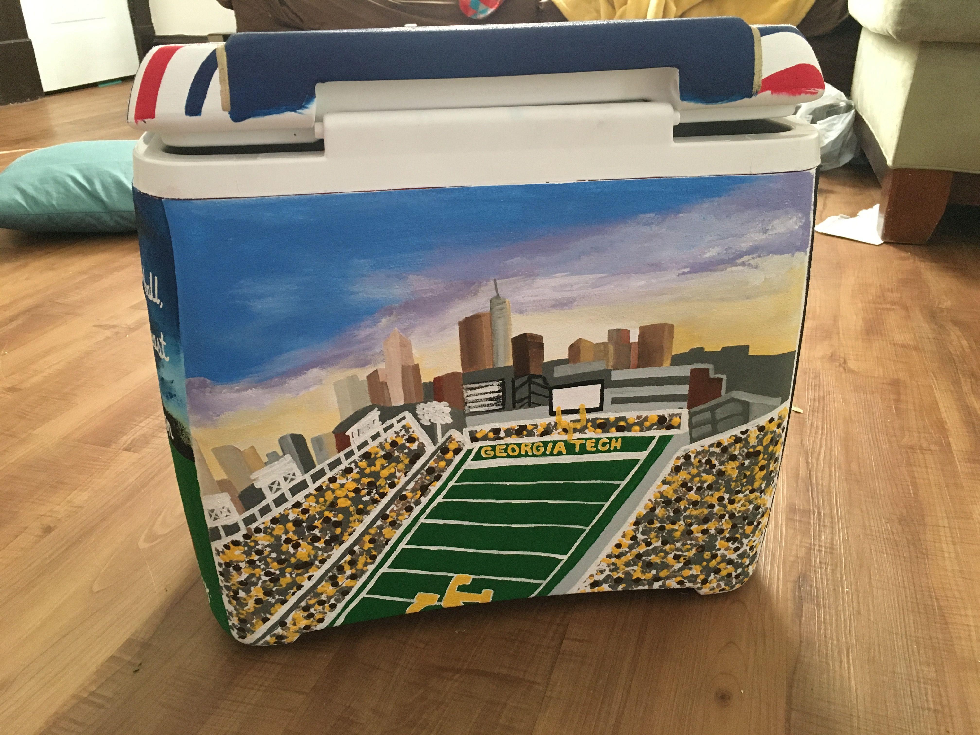 tech football stadium painted cooler Cooler