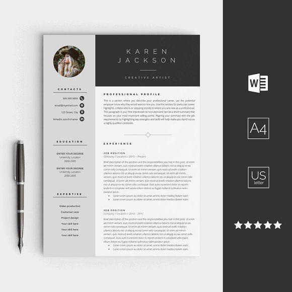 Creative Resume Template @creativework247 | Resume and CV | Pinterest