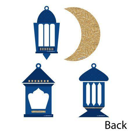 Ramadan - Lantern Decorations DIY Eid Mubarak Party Essentials - Set o