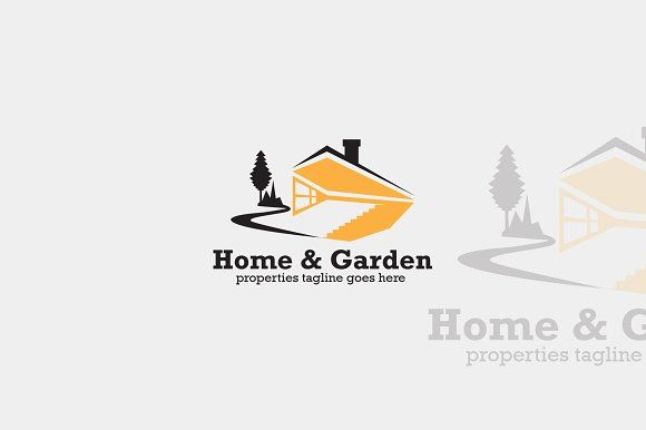 Home And Garden Logo By Voltury On Creativemarket Branding Cafe Logos