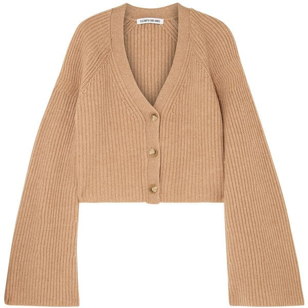 Elizabeth and James Cabot cropped ribbed merino wool and... (458,230 KRW)