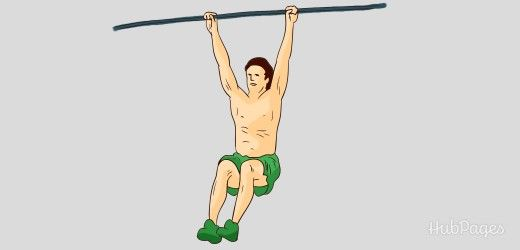 Hanging exercises will help you gain height and length