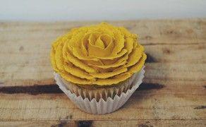 Yellow flower cupcake my little life pinterest flower cupcakes yellow flower cupcake mightylinksfo
