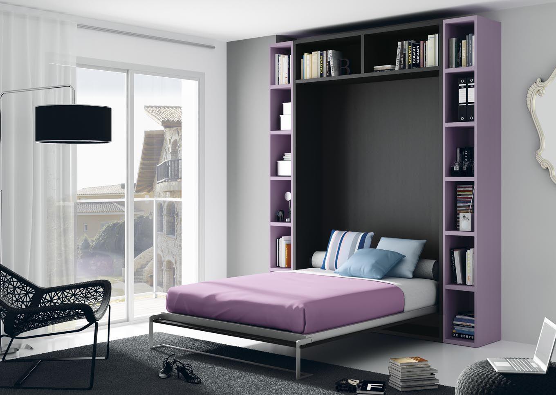 Cama vertical plegable para aprovechar mejor los espacios for Habitaciones pequenas aprovechar espacio