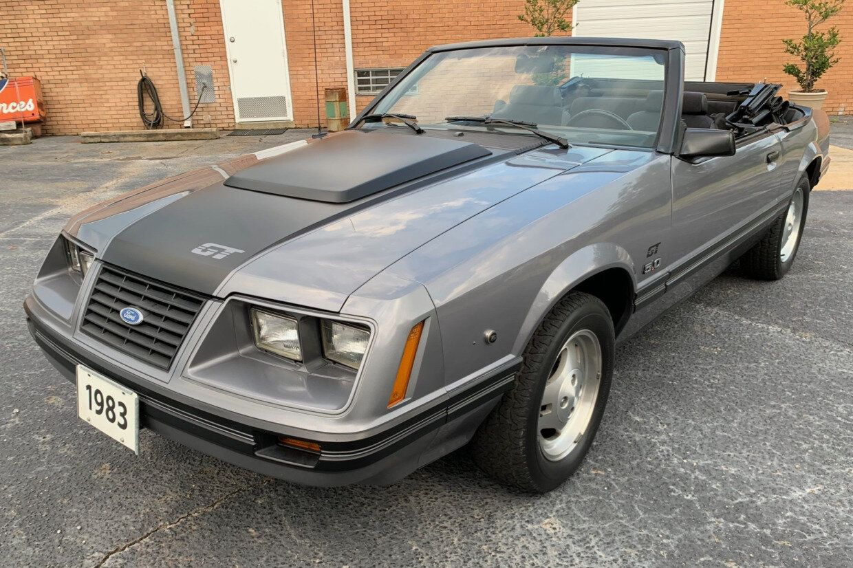 For Sale 1983 Ford Mustang Gt Convertible Gray 5 0l V8 5 Speed 15k Miles Stangbangers Ford Mustang Gt Ford Mustang Mustang Gt