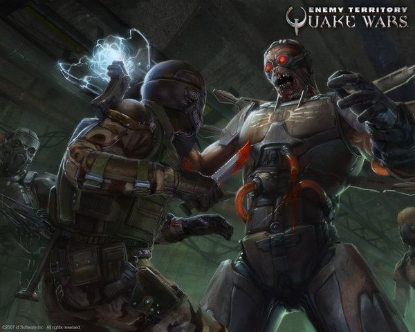 my desktop screenshot of et quake wars covert ops guy stabing a