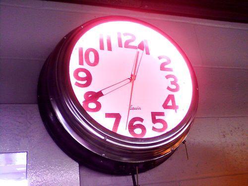 Vintage lewis hot pink light up neon blackchrome wall clock vintage lewis hot pink light up neon blackchrome wall clock aloadofball Images