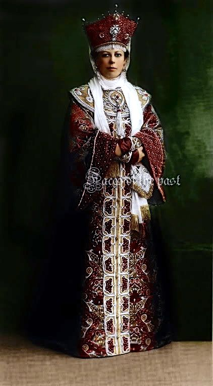 Princess Maria Mikhailovna Golitsina at the Winter Palace Costume Ball of 1903.