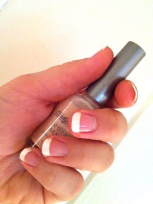 easiest french manicure!