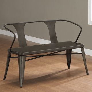 Tabouret Vintage Metal Bench With Back Ping The Best Deals On Dining Chairs
