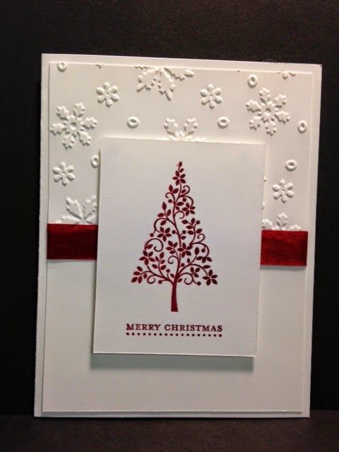A Cherry Cobbler Festival of Trees Christmas Card #stampshandmade