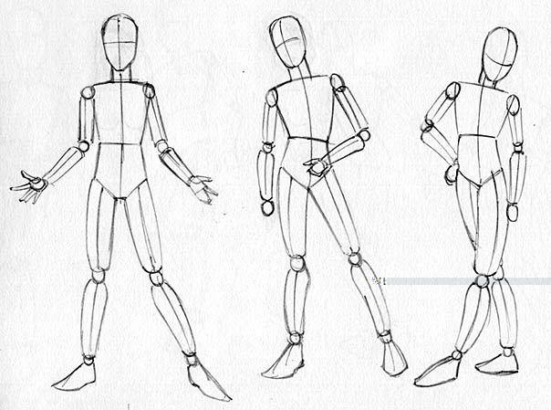 Drawing body gestures Full