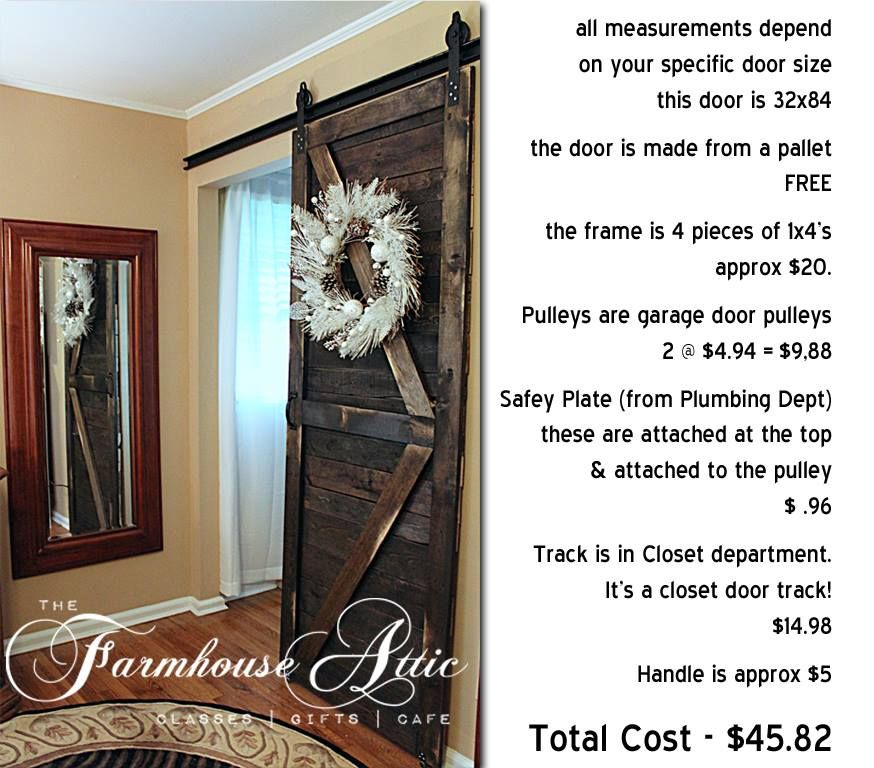 Diy Barn Door Complete Door Hardware For Under 50 Um Yes Please Here Ya Go And You Re Welcome Diy Barn Door Barn Door Remodel Bedroom
