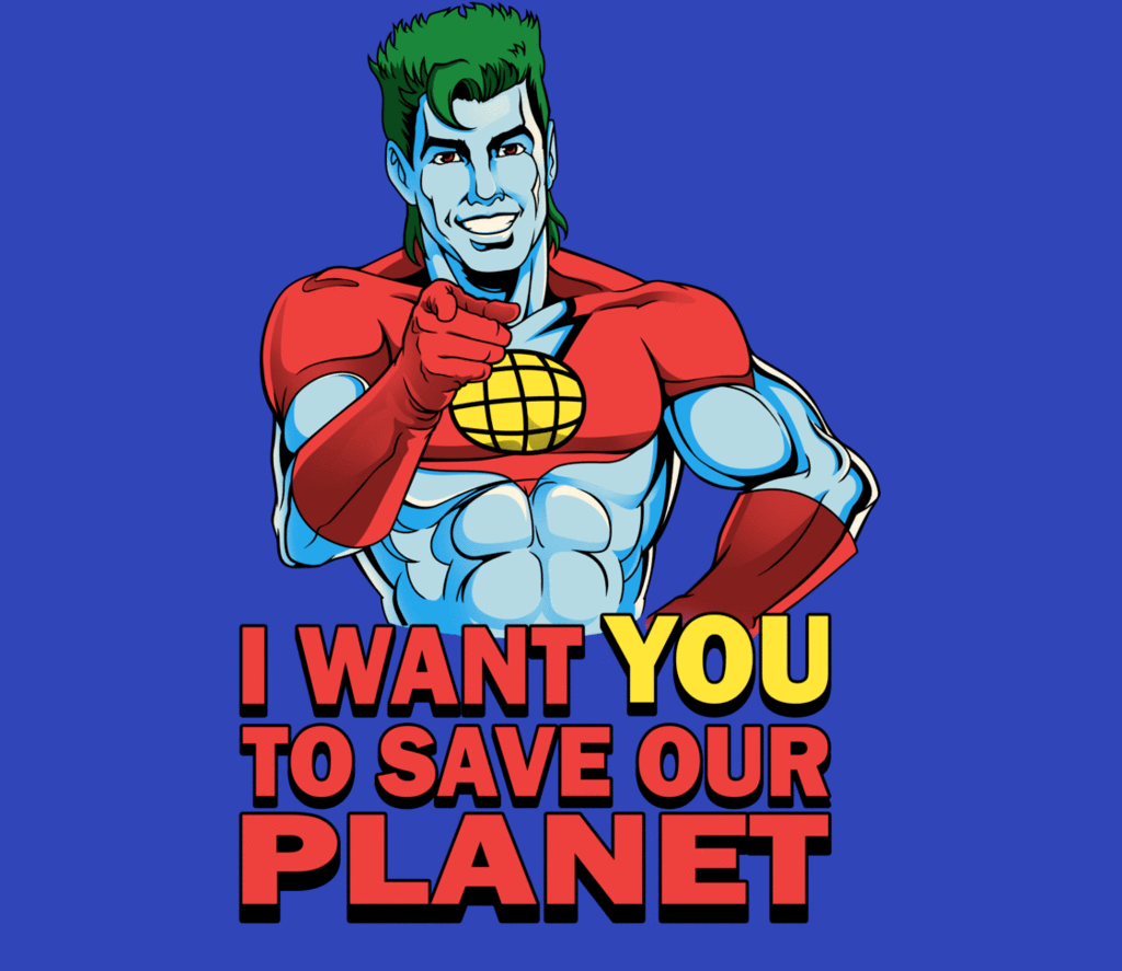 Planeteer Call Day Of The Shirt Captain Planet Cartoon Shirtpunch