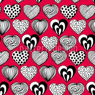 Funny Hearts by Martina Stadler available for download as a vector file on patterndesigns.com