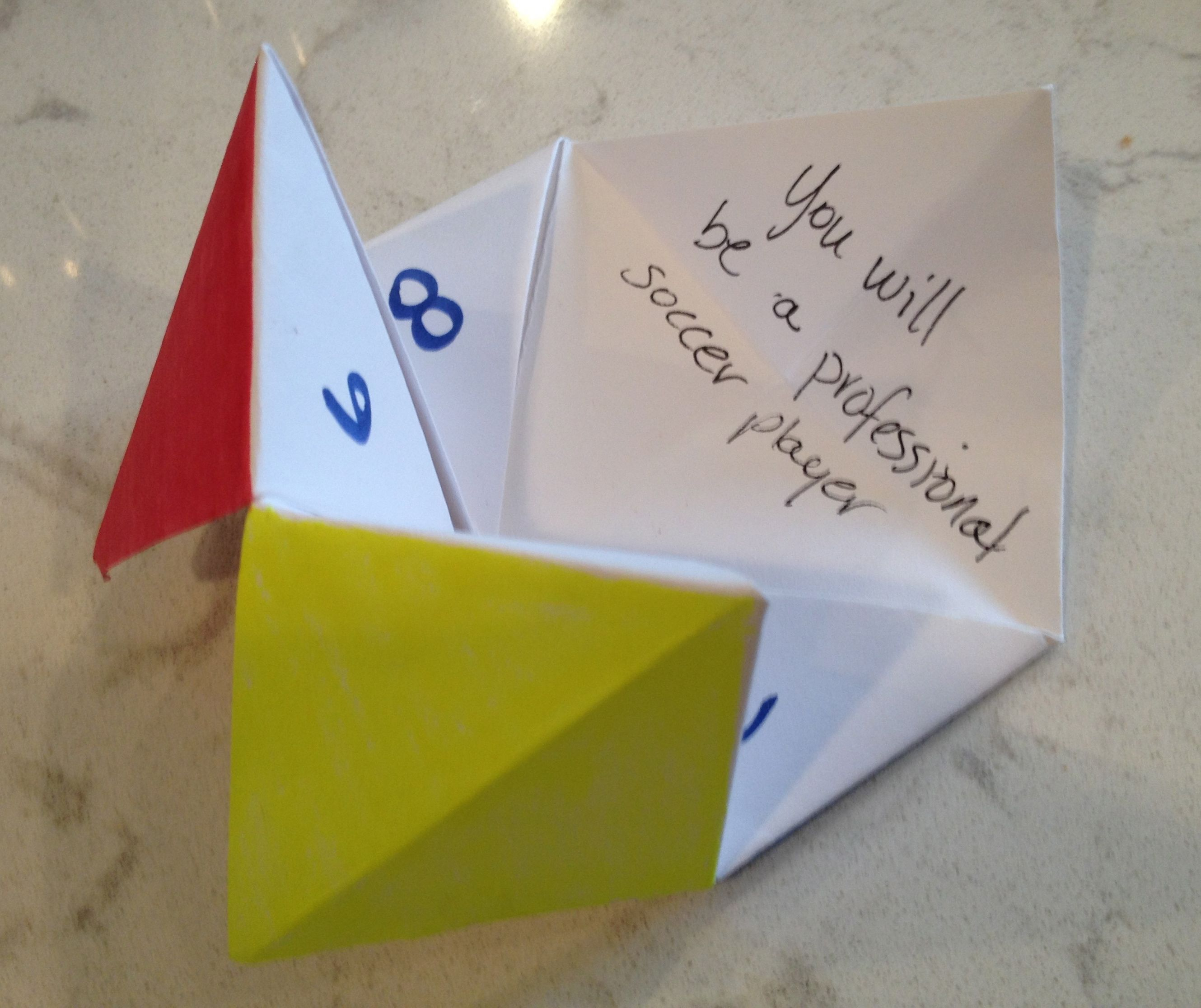 Teach Kids Positive Self Talk And Visualization With An Origami Fortune Teller Great Self