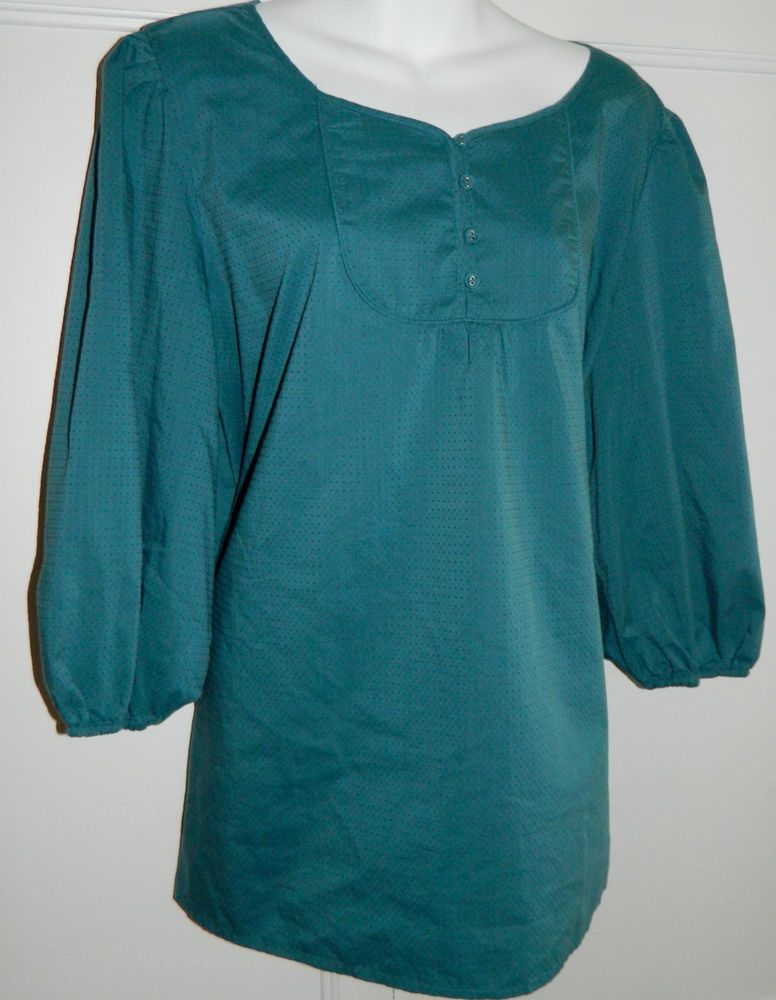 5f708420a28dc New OLD NAVY Top TUNIC 2X XXL 18 20 Blue TEAL Turquoise 3 4 sleeve FREE  Shipping  OldNavy  Tunic