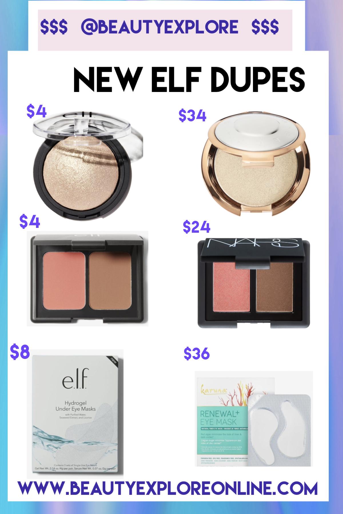 New Dupes Sephora vs. e.l.f. Save Money! Elf dupes