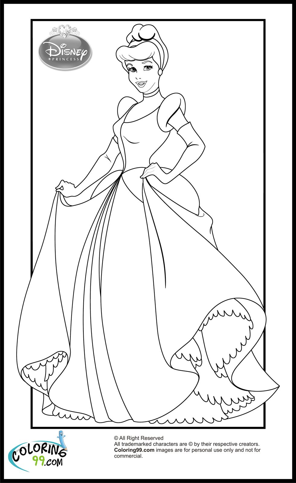 disney princess cinderella coloring pages | (AAA) Coloring Pages ...