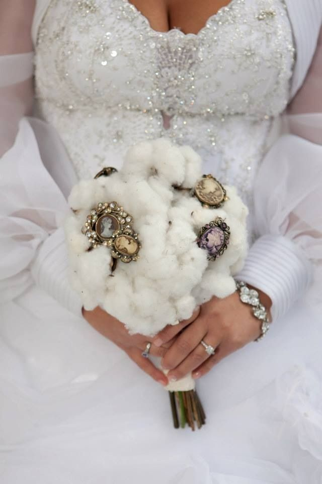 Cotton and Cameos my bouquet