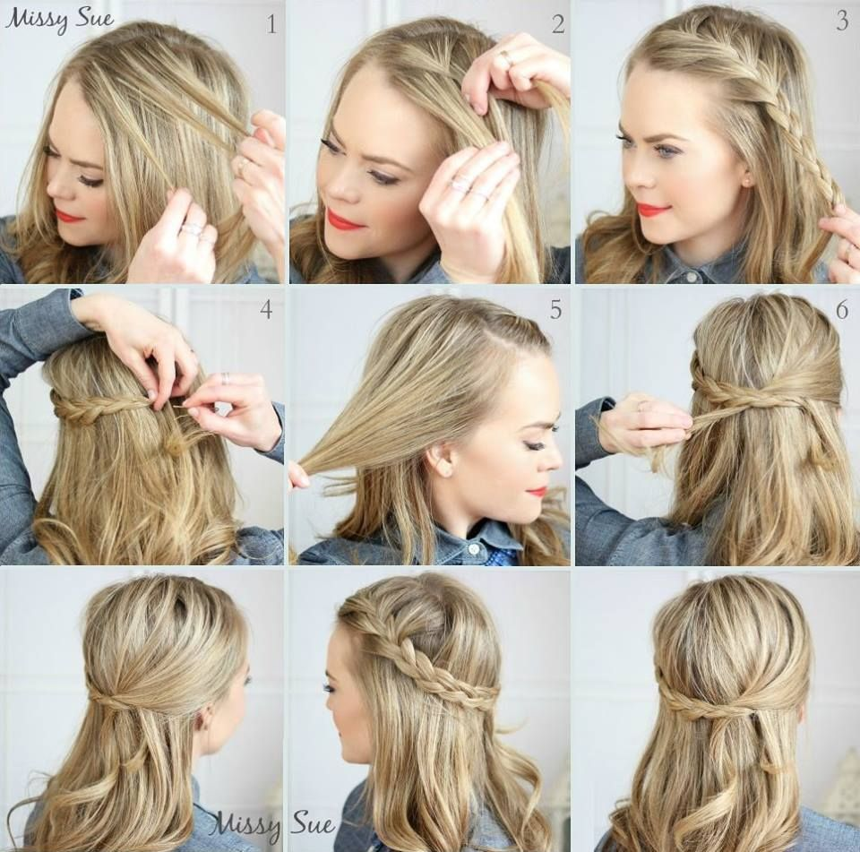 Cabello Suelto Con Trenzas Peinados En 2018 Pinterest Trenzas - Peinados-con-trenzas-y-pelo-suelto