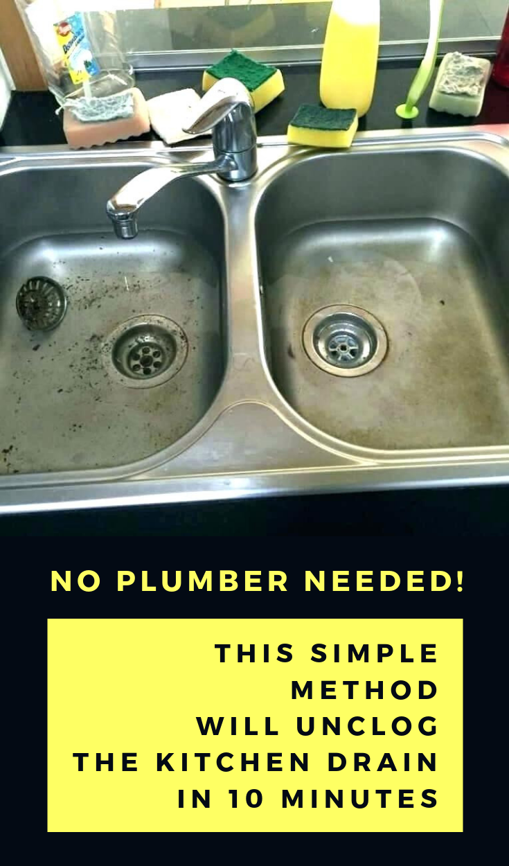 No Plumber Needed This Simple Method Will Unclog The Kitchen