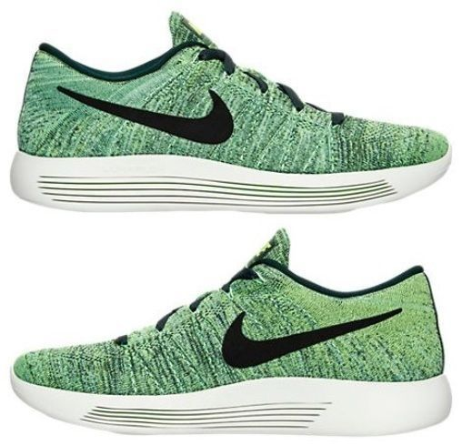 a82709999666 NIKE LUNAREPIC LOW FLYKNIT MEN s RUNNING SEAWEED - GHOST GREEN - BLACK NEW  US SZ