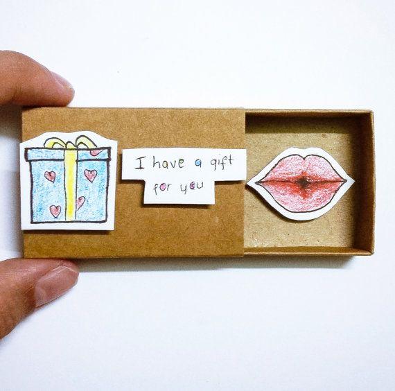 Surprise gift Card Matchbox Gretting Card Gift box by JtranJ