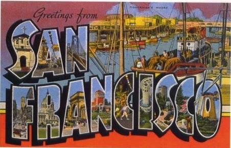 San francisco vintage postcard font typophile postcards san francisco vintage postcard font typophile m4hsunfo