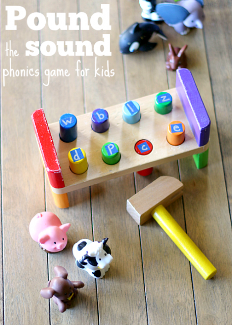 Game Toys To Practice : Phonics game for kids pound the sound letter