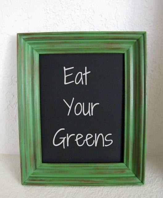Kitchen Chalkboard Green Wall Decor 14x16 Etsy Love Pinterest