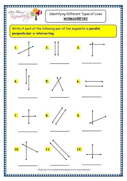 grade 3 maths worksheets 14 2 geometry identifying different types of lines worksheets. Black Bedroom Furniture Sets. Home Design Ideas