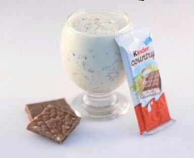 ميلك شيك مع كندر Food Glass Of Milk Milk