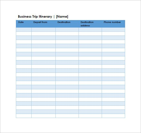 Business Trip Itinerary Spreadsheet Template , 10+ budget template ...